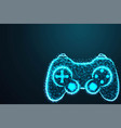 game pad icon joy pad joy stick with crumbled vector image
