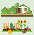 Gardening set vector image vector image