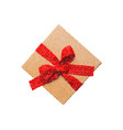 gift box icon with red bow vector image