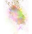 glowing splash vector image vector image