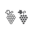 grapes line and glyph icon fruit and vitamin vector image vector image