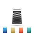 grater icon on white background kitchen symbol vector image