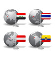 gray earth globes with designation iraq vector image vector image