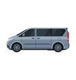 gray mini van car public or cargo transportation vector image
