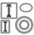 greek symbol vector image