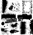 Grunge set vector image