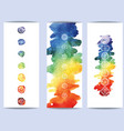 hakras symbol on color watercolor background vector image