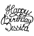 Happy birthday Jessica name lettering vector image vector image