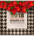 happy new year party invitation poster of vector image vector image