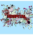 Hospital line art design vector image vector image