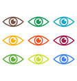 Icon of eye Colorful set vector image vector image