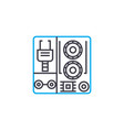 industrial equipment linear icon concept vector image vector image