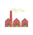 industrial manufactory building with hangars vector image vector image
