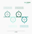 infographics elements eps10 vector image vector image