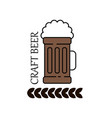 label delicious foam beer drink premium craft vector image vector image