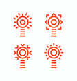 lighthouse isolated set of icons outline vector image