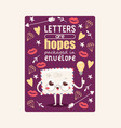 mail envelope mailed post emoticon mailing lovely vector image vector image