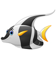 masked banner fish cartoon vector image vector image