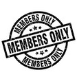 members only round grunge black stamp vector image vector image
