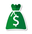 money bag sack icon vector image
