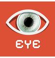 Paper Retro Eye vector image vector image
