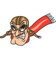 pilot logo mascot vector image vector image