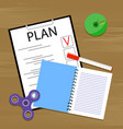 plan business and work vector image vector image