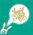 poster for happy easter 7 vector image vector image