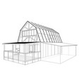 private house sketch rendering of 3d vector image