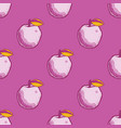 quirky apple seamless pattern vector image
