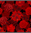 red rose chrysanthemum carnation peony and vector image vector image