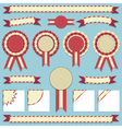 rosettes and ribbons vector image vector image
