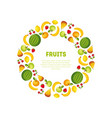 round frame of different fresh vegetables and vector image vector image