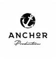 rustic retro vintage anchor hand drawn boat ship vector image vector image