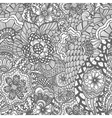 seamless hand drawn seamless flower pattern vector image vector image