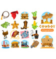 set of of on the theme of the wild west clothing vector image vector image