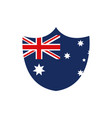 shield shape flag emblem nation australia icon on vector image