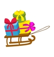 Sleigh gift vector image vector image