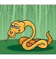 snake in the jungle cartoon vector image vector image