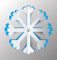 Snowflake - Winter Symbol Paper Cut vector image