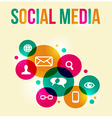 social network concept colorful background vector image vector image