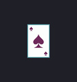 Spades card computer symbol vector image vector image