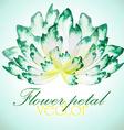 Watercolor floral vintage card vector image vector image