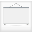 White projection screen hanging from wall vector image vector image