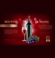 wine poster advertising realistic pictures of vector image vector image