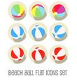 beach ball icon set flat vector image