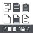 modern file icons set vector image