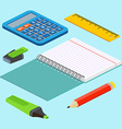 Isometric on a blue background with the image vector image