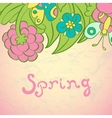 Floral Frame Collection cute retro flowers cards vector image