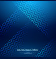 abstract blue background with wavy lines vector image vector image